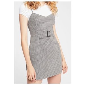 Free People My Girl Houndstooth Mini Dress Size 8